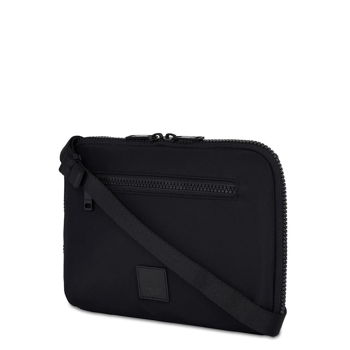 "KNOMO Fulham Knomad X-Body Organiser Tech Organiser Three Quarter View With Strap 10.5"" -  Black 
