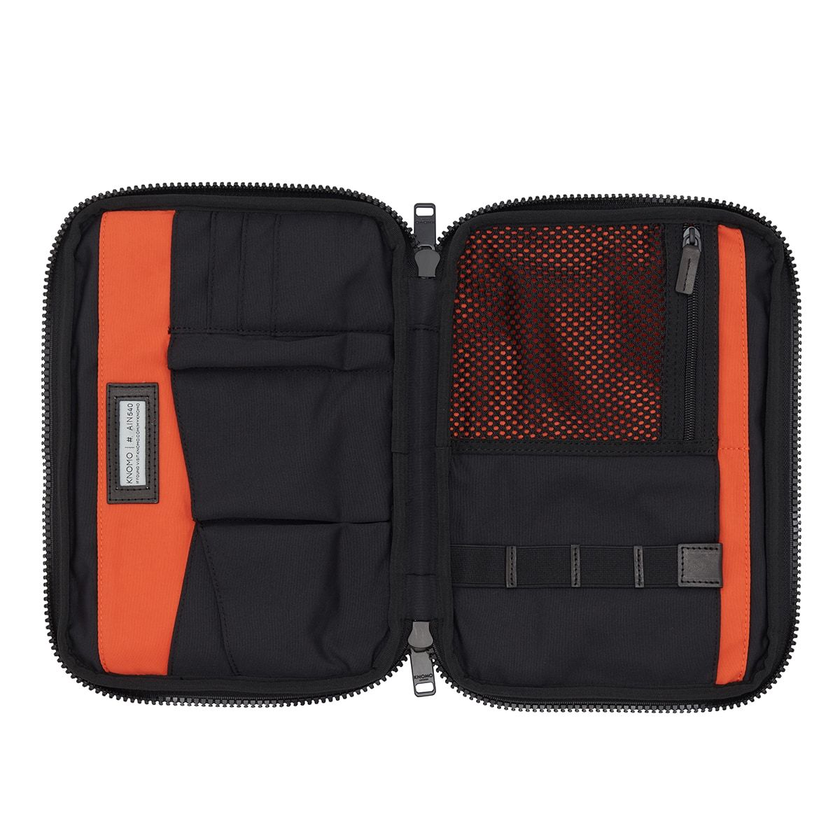 "KNOMO Fulham Knomad X-Body Organiser Tech Organiser Internal View Empty 10.5"" -  Black 