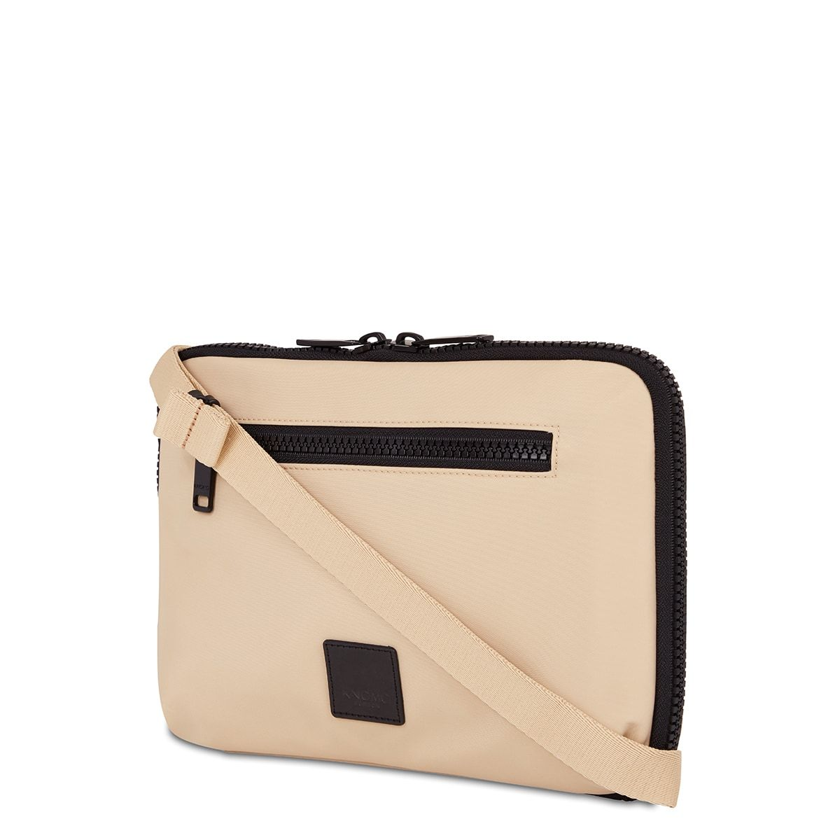 "KNOMO Fulham Knomad X-Body Organiser Tech Organiser Three Quarter View With Strap 10.5"" -  Trench Beige 