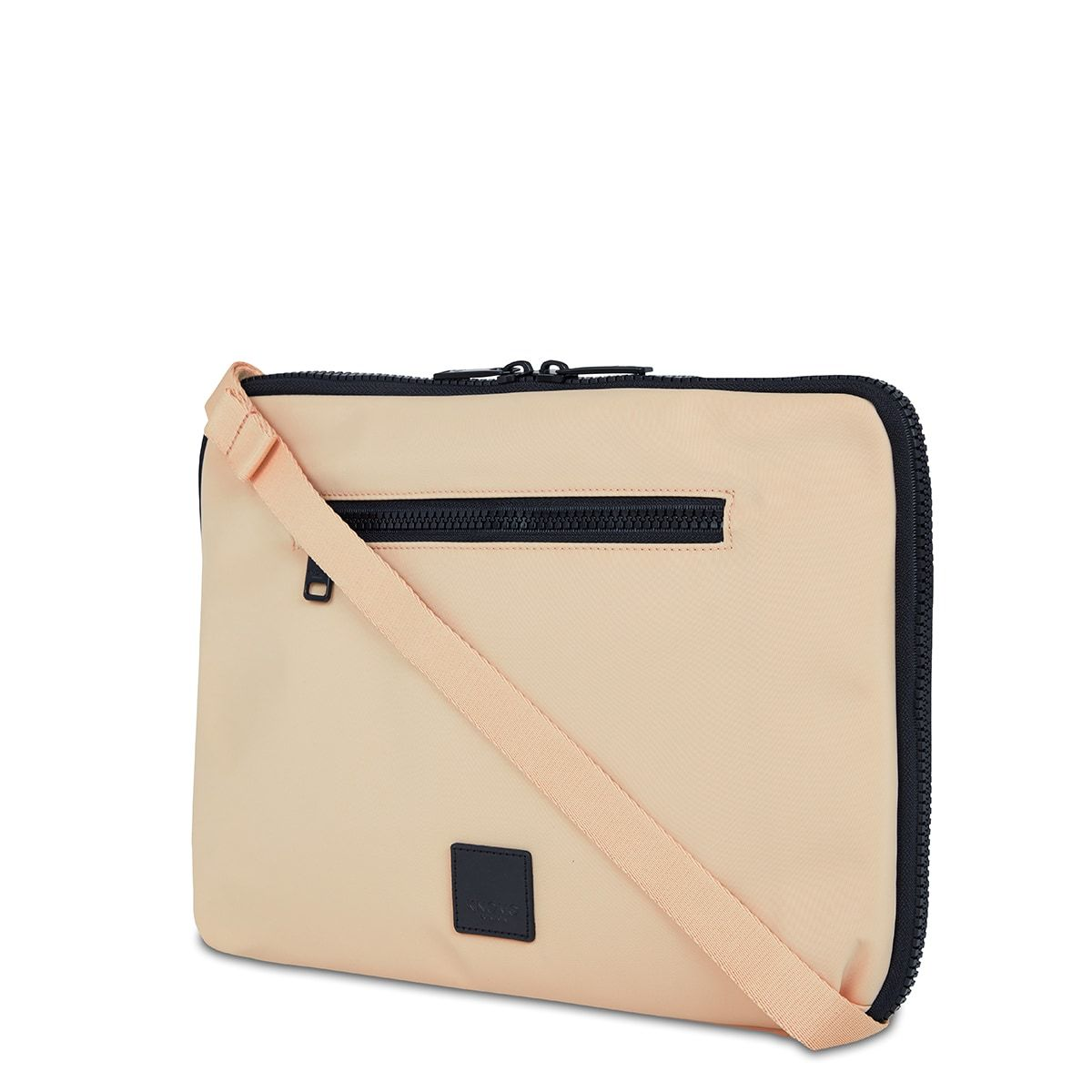 "KNOMO Fulham Knomad X-Body Organiser Tech Organiser Three Quarter View With Strap 13"" -  Trench Beige 