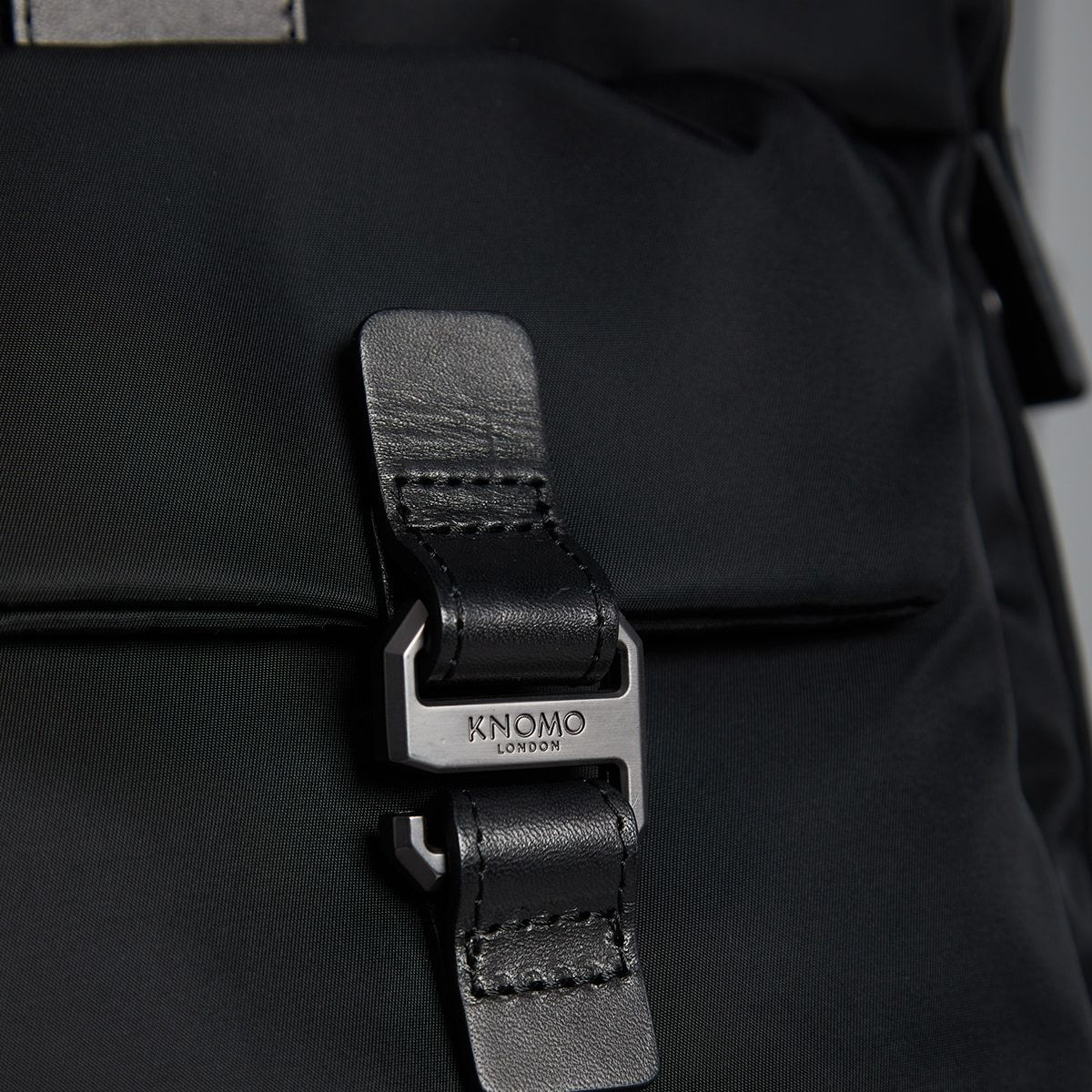 "KNOMO Tournay Laptop Briefcase Close Up Buckle 15"" -  Black 