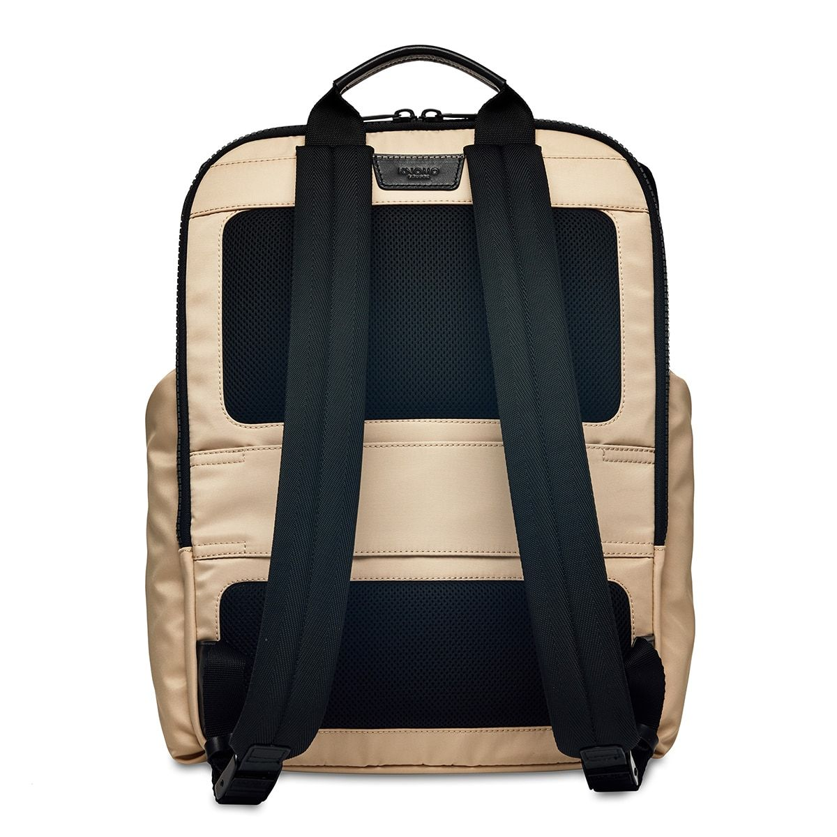 "KNOMO Thurloe Backpack From Back 15"" -  Trench Beige 