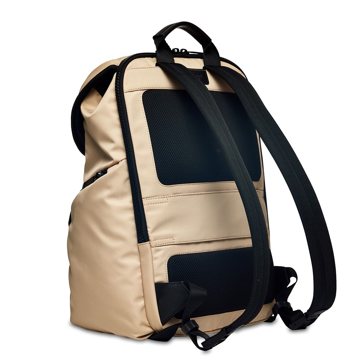 "KNOMO Thurloe Backpack Three Quarter View From Back 15"" -  Trench Beige 