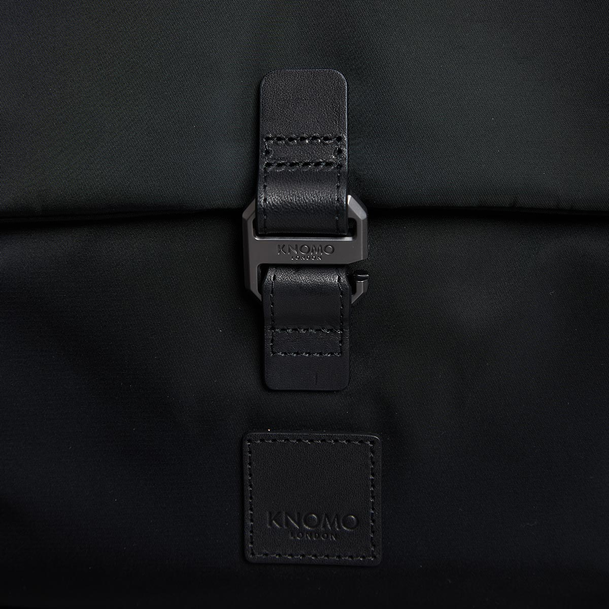 "KNOMO Christowe Backpack Buckle Detail Close Up 15"" -  Black 
