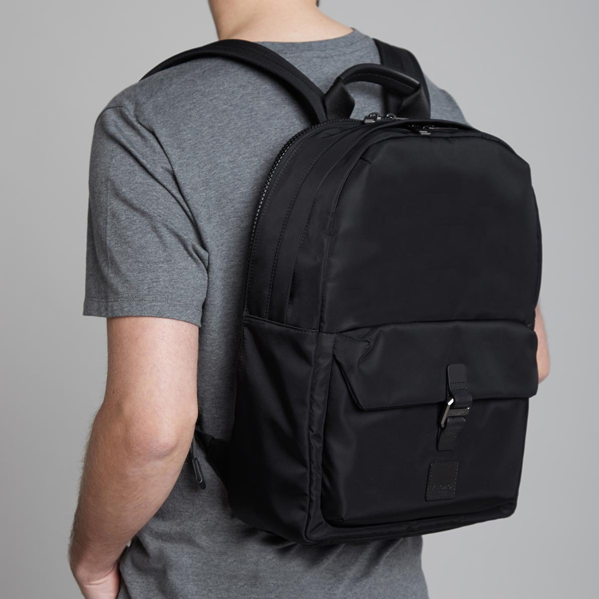 "KNOMO Christowe Backpack Male Model Wearing 15"" -  Black 