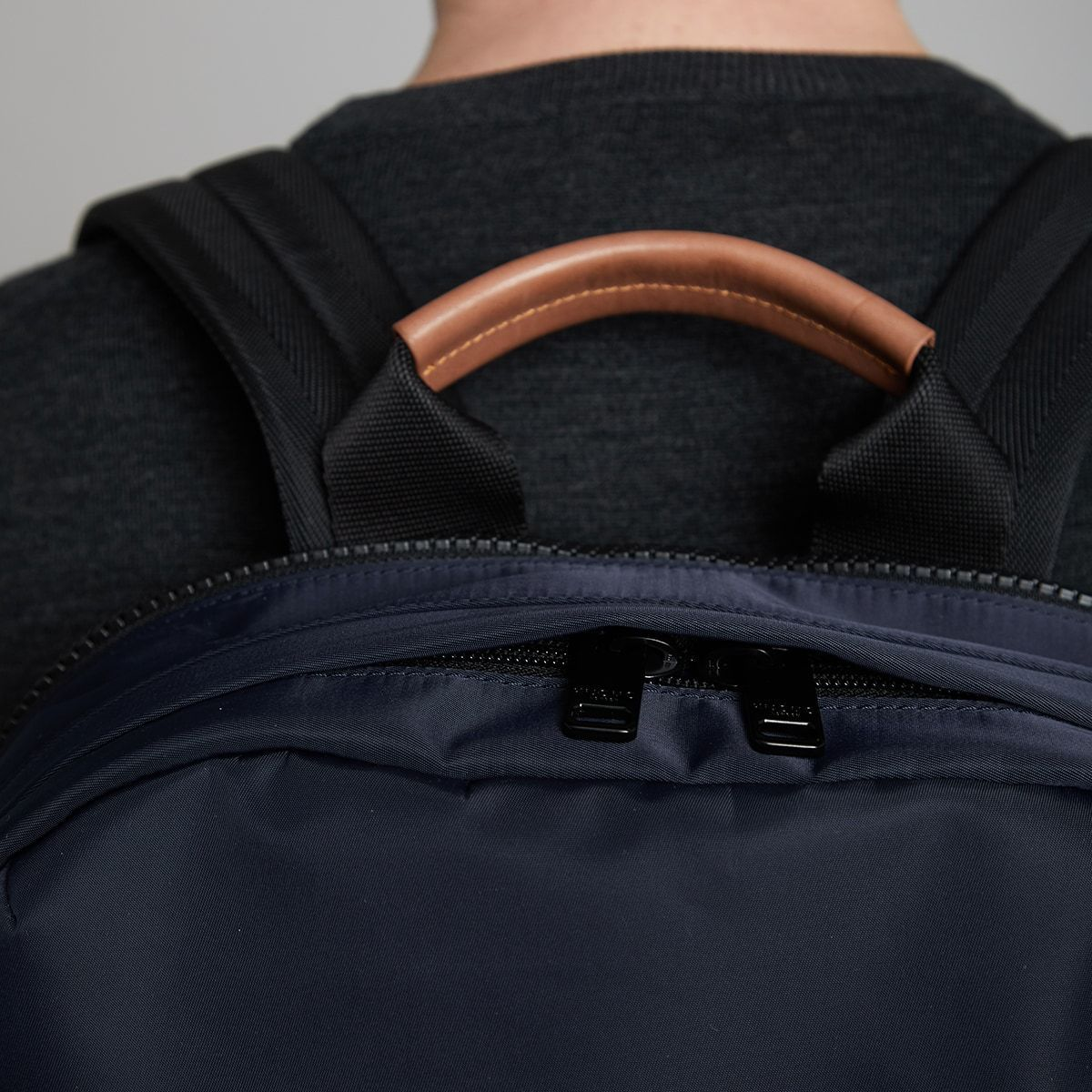 "KNOMO Christowe Backpack Zip Close Up 15"" -  Dark Navy 
