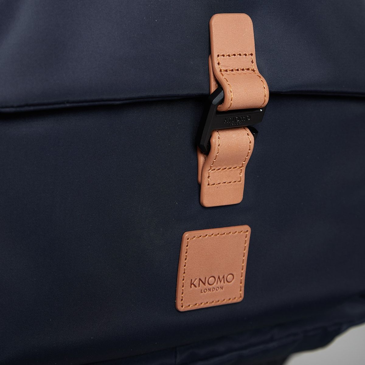 "KNOMO Christowe Backpack Buckle Detail Close Up 15"" -  Dark Navy 
