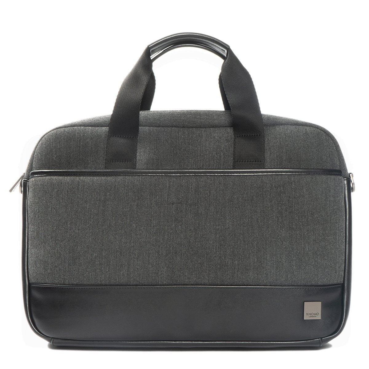 "KNOMO Princeton Laptop Briefcase From Front 15.6"" - Grey 