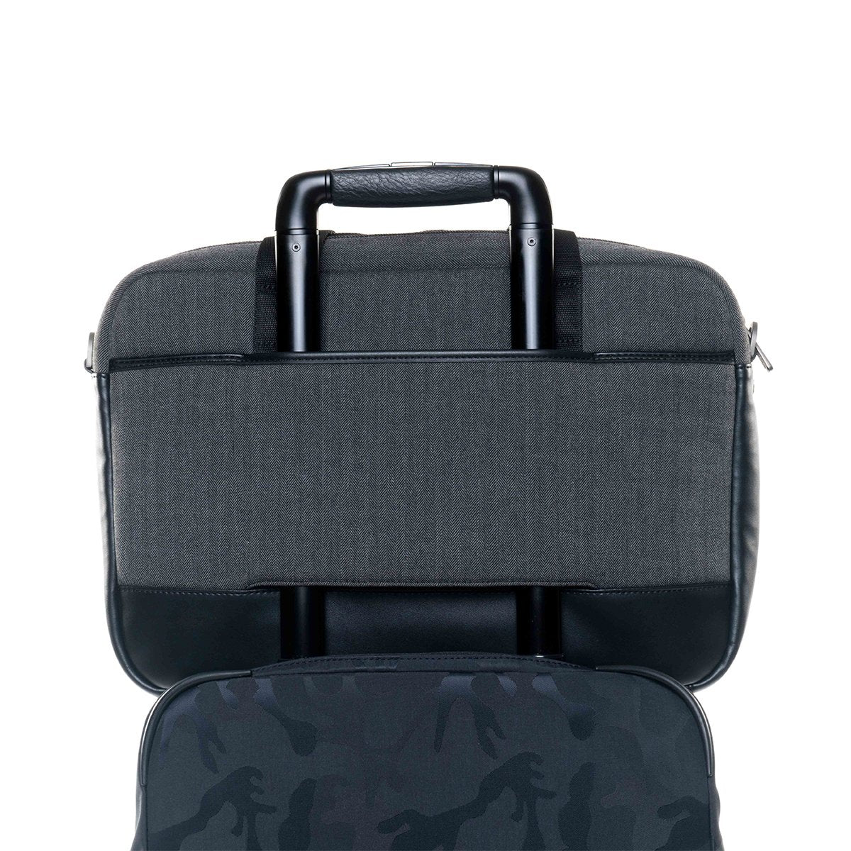 "KNOMO Princeton Laptop Briefcase Trolley Sleeve View 15.6"" - Grey 