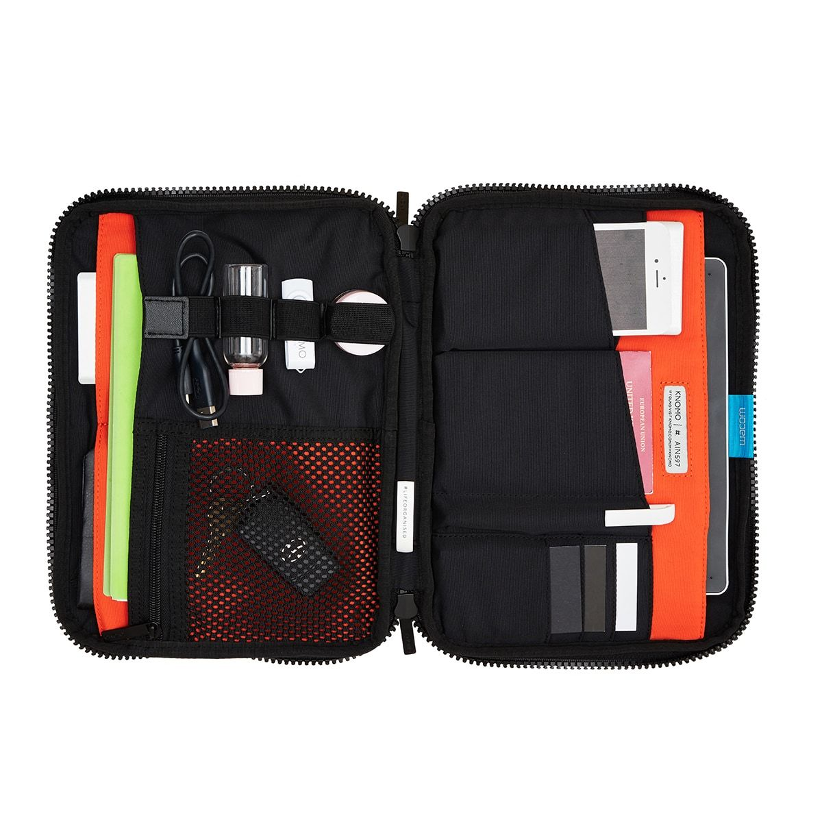 "KNOMO Thames Knomad Organiser Tech Organiser Internal With Items 10.5"" -  Black 