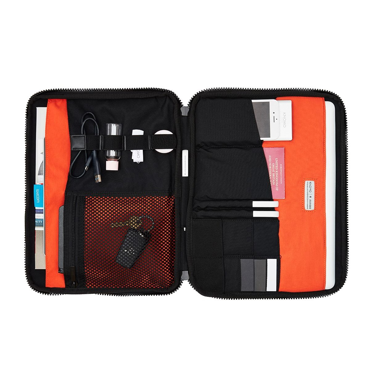 "KNOMO Thames Knomad Organiser Tech Organiser Internal With Items 13"" -  Black 