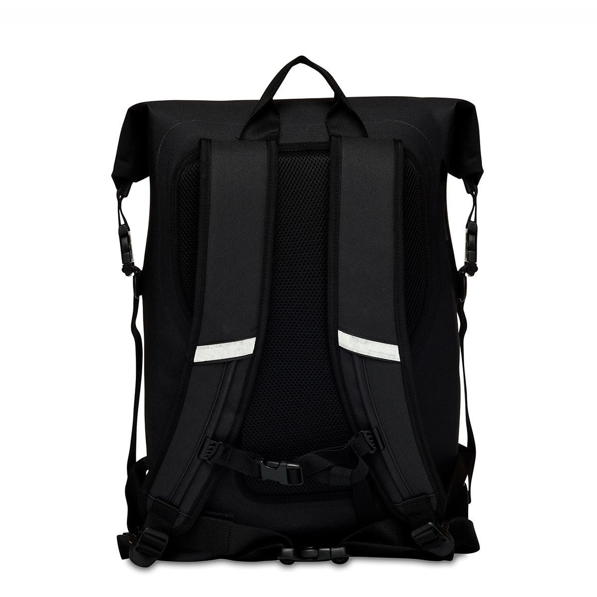 "KNOMO Cromwell Roll-Top Laptop Backpack From Back 14"" -  Black 