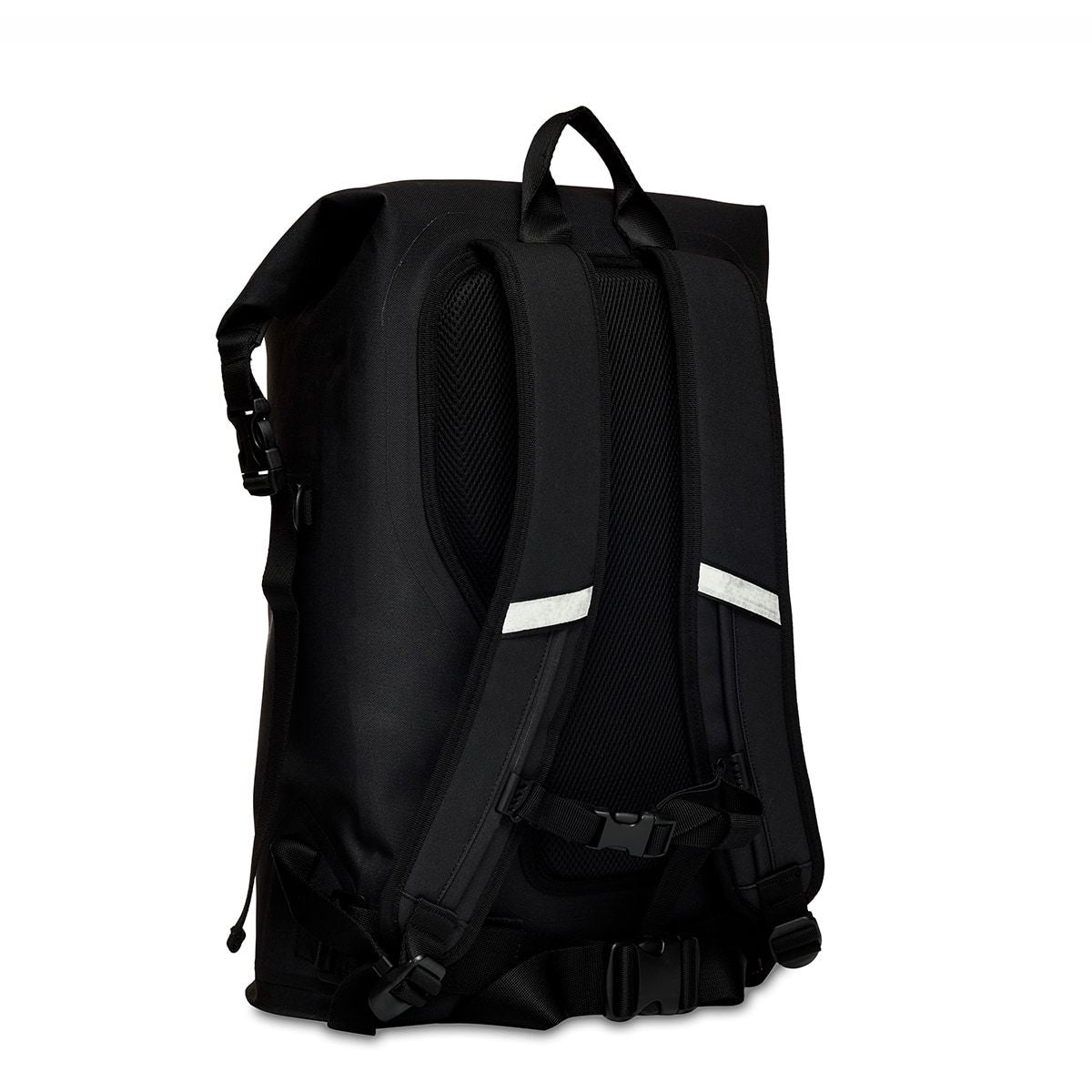 "KNOMO Cromwell Roll-Top Laptop Backpack Three Quarter View From Back 14"" -  Black 