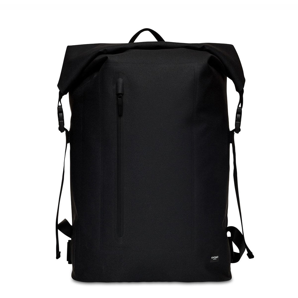 "Cromwell Mens 14"" Roll-Top Laptop Backpack - Black 