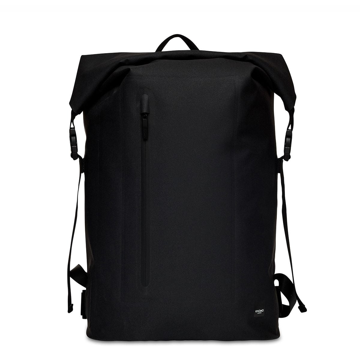 "KNOMO Cromwell Roll-Top Laptop Backpack From Front 14"" -  Black 