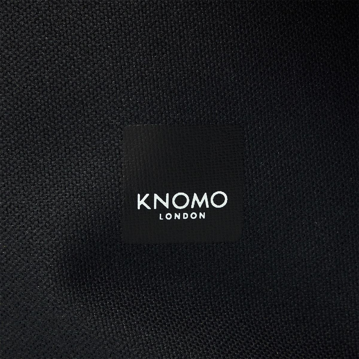 "KNOMO Cromwell Roll-Top Laptop Backpack Close Up Logo 14"" -  Black 