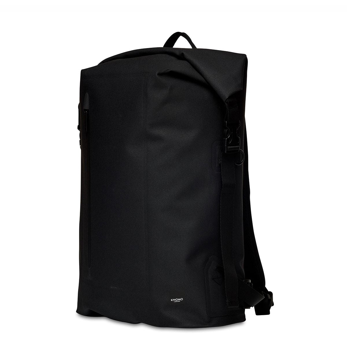 "KNOMO Cromwell Roll-Top Laptop Backpack Three Quarter View 14"" -  Black 