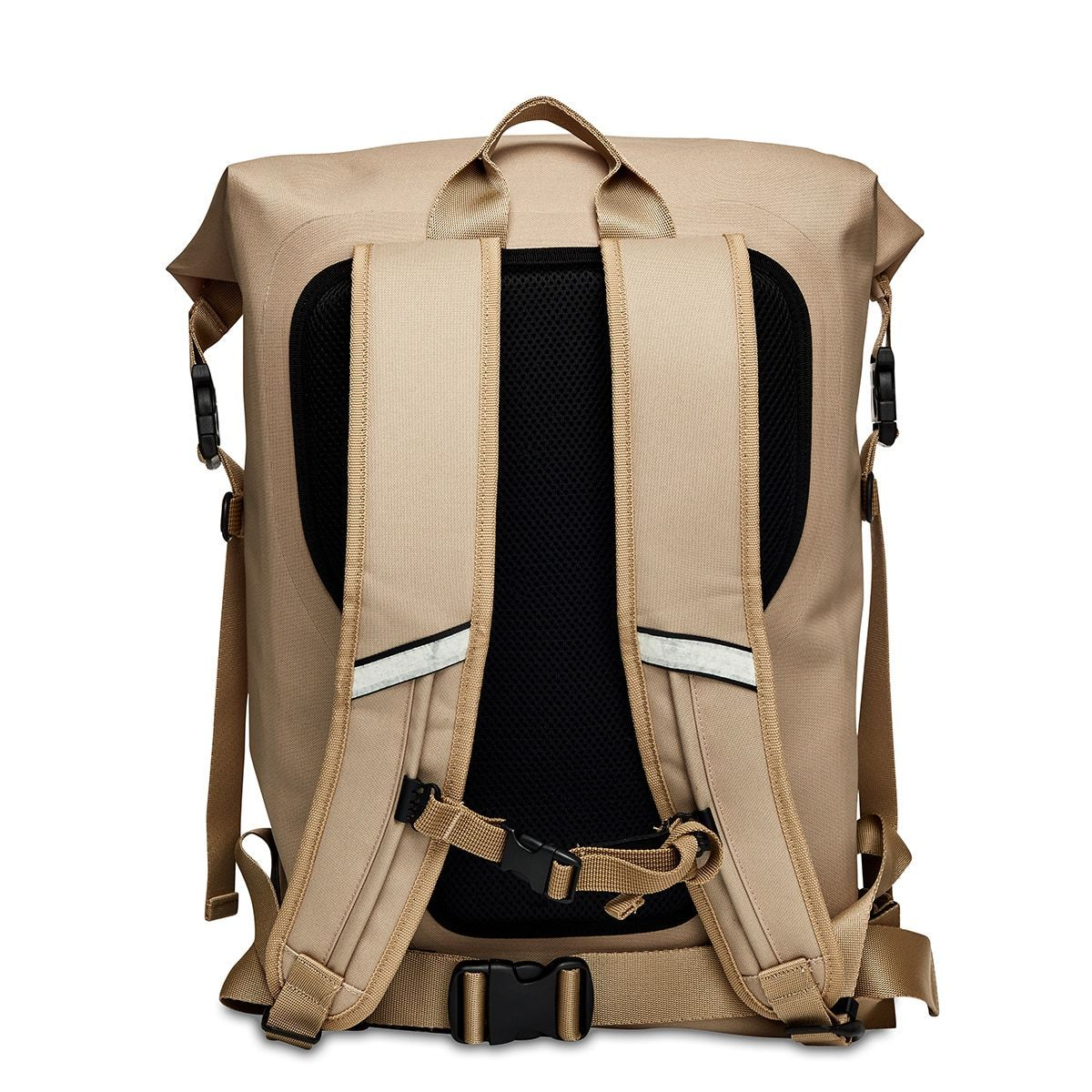 "KNOMO Cromwell Roll-Top Laptop Backpack From Back 14"" -  Desert 