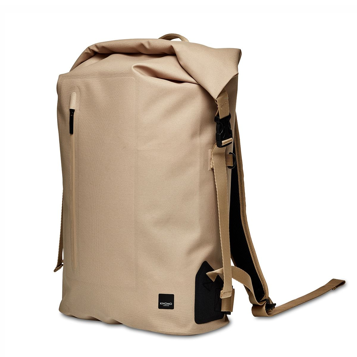 "KNOMO Cromwell Roll-Top Laptop Backpack Three Quarter View 14"" -  Desert 