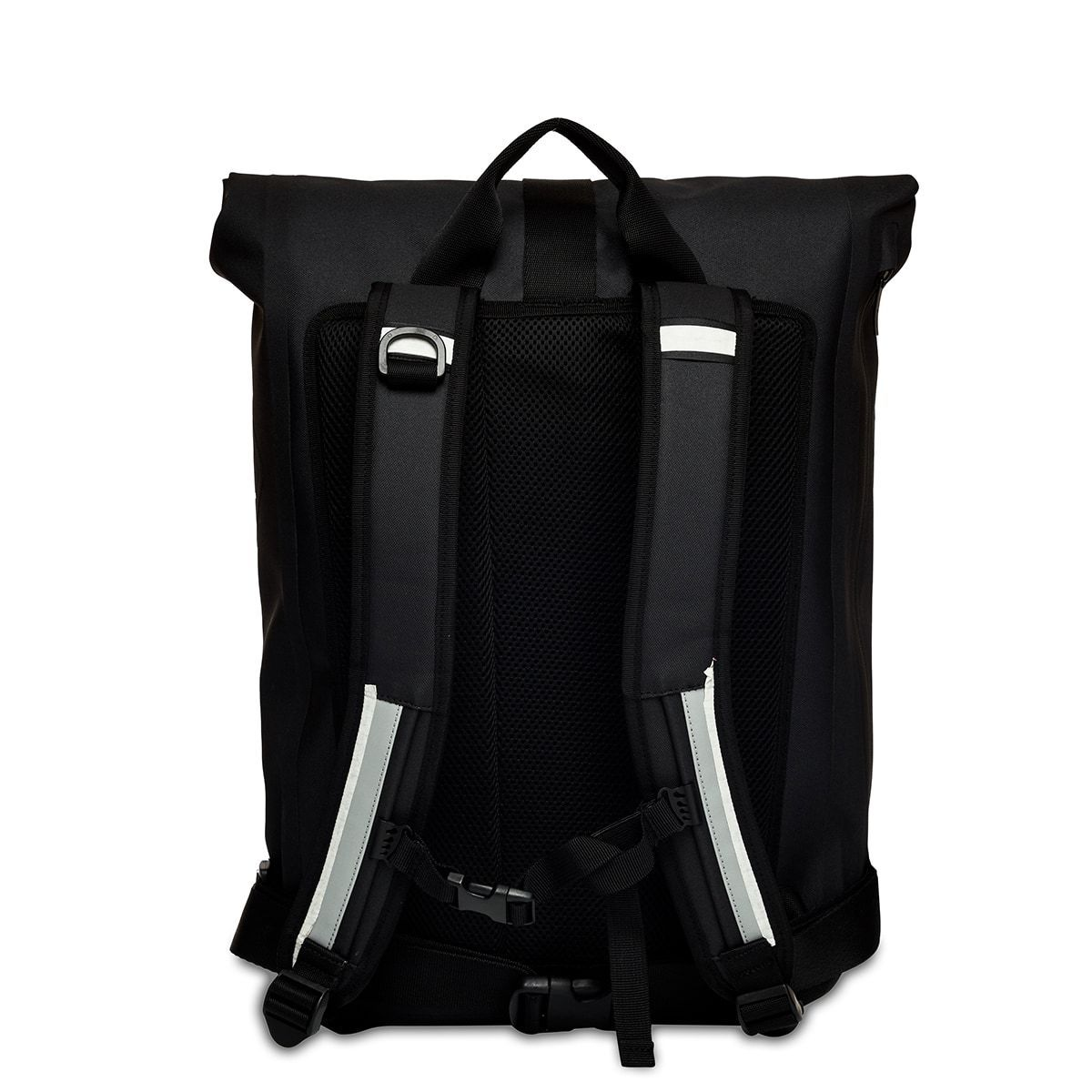 "KNOMO Kew Roll-Top Laptop Backpack From Back 15"" -  Black 
