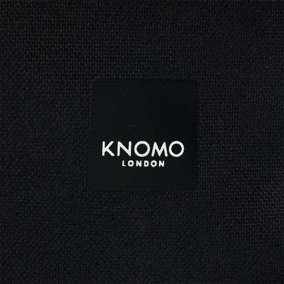 "KNOMO Kew Roll-Top Laptop Backpack Close Up Logo 15"" -  Black 