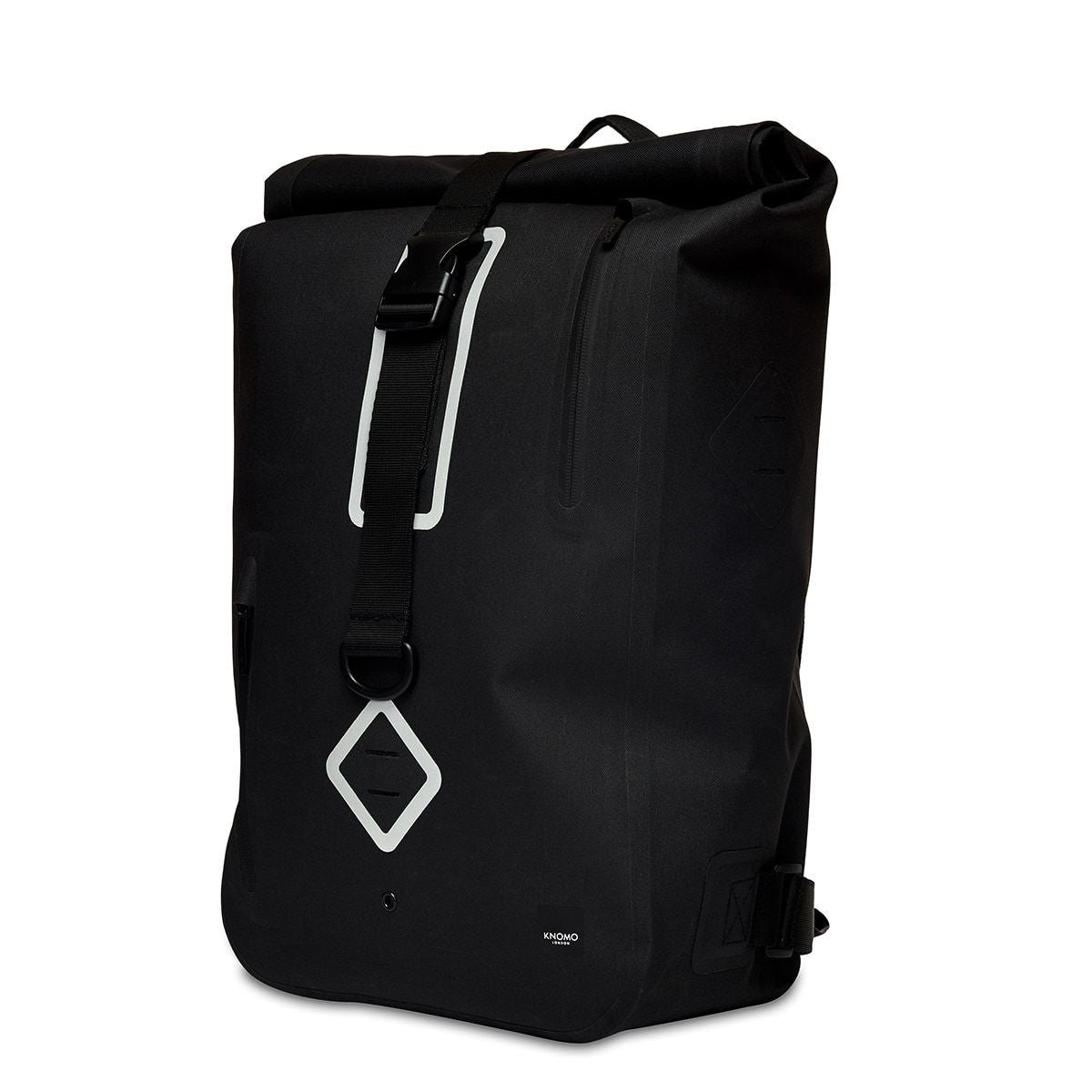 "KNOMO Kew Roll-Top Laptop Backpack Three Quarter View 15"" -  Black 