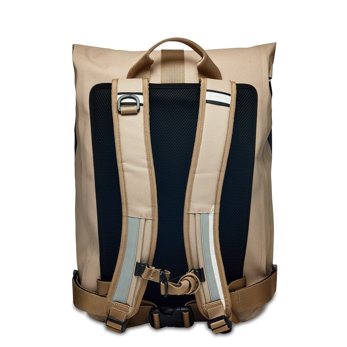 "KNOMO Kew Roll-Top Laptop Backpack From Back 15"" -  Desert 