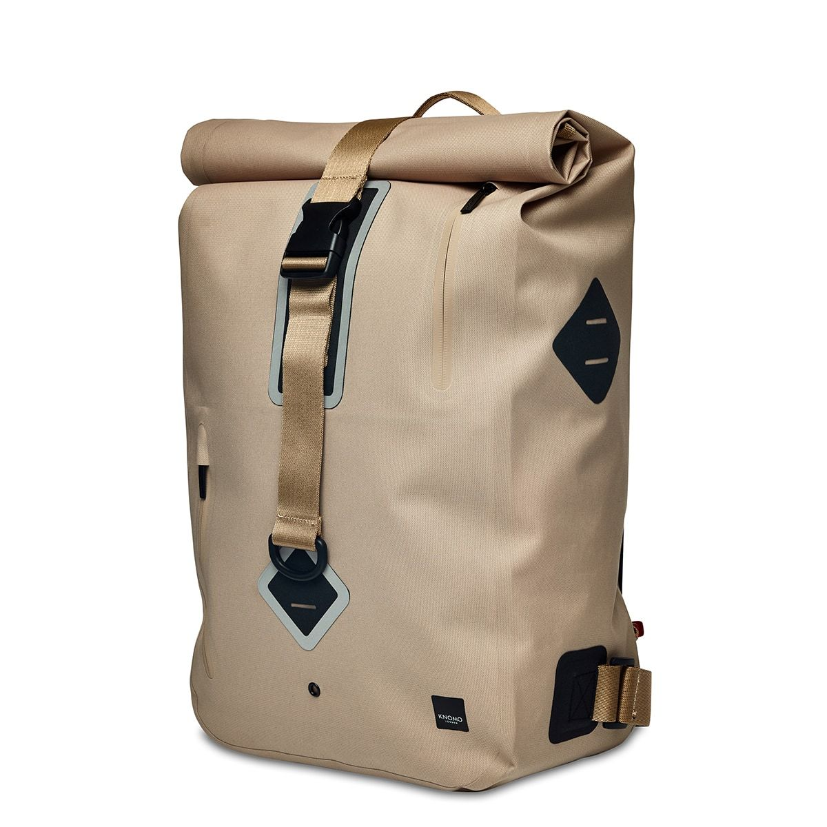 "KNOMO Kew Roll-Top Laptop Backpack Three Quarter View 15"" -  Desert 