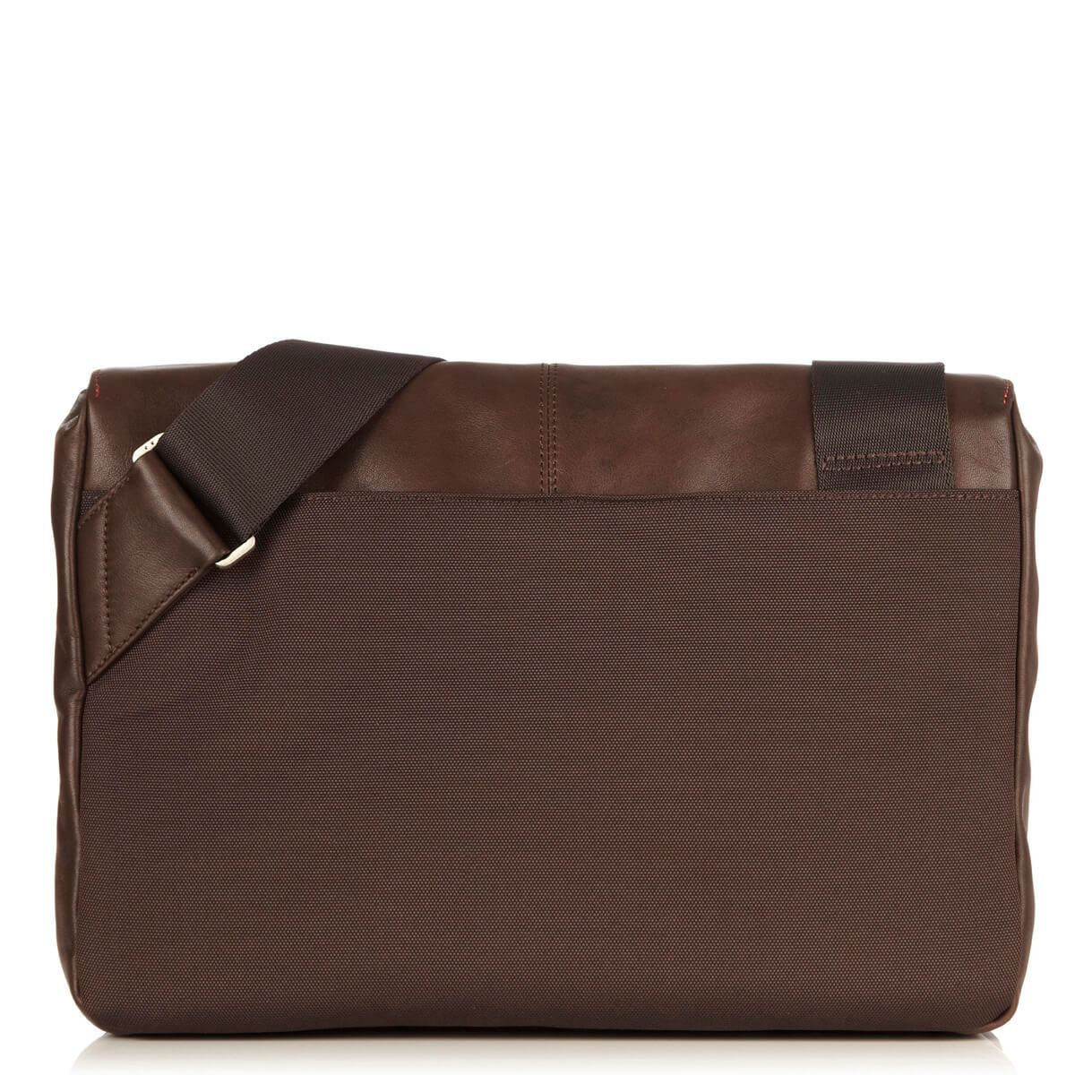 "KNOMO Kinsale Laptop Messenger Bag From Back 13"" -  Brown 