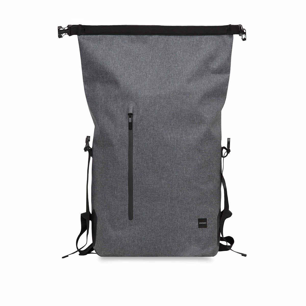 "KNOMO Cromwell Roll-Top Laptop Backpack From Front Open 14"" -  Grey 