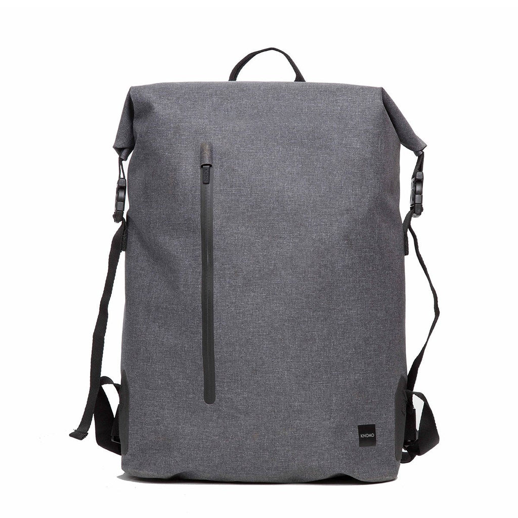 "Cromwell Mens 14"" Roll-Top Laptop Backpack - Grey – KNOMO"