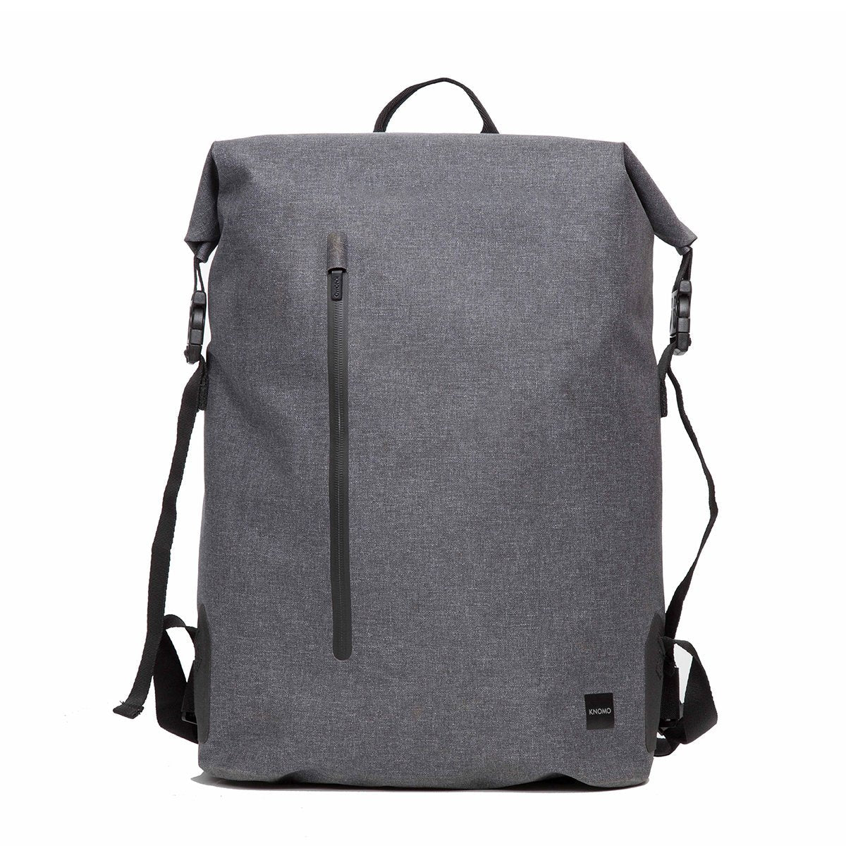 "KNOMO Cromwell Roll-Top Laptop Backpack From Front 14"" -  Grey 