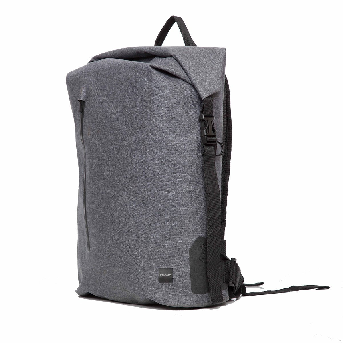 "KNOMO Cromwell Roll-Top Laptop Backpack Three Quarter View 14"" -  Grey 