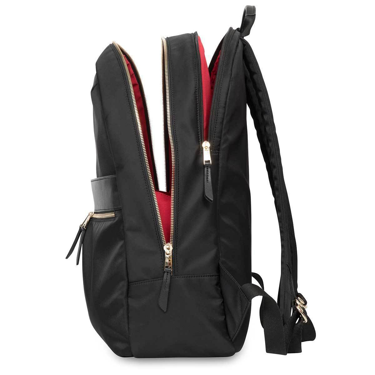 "KNOMO Beaufort Laptop Backpack From Side Open 15.6"" -  Black 