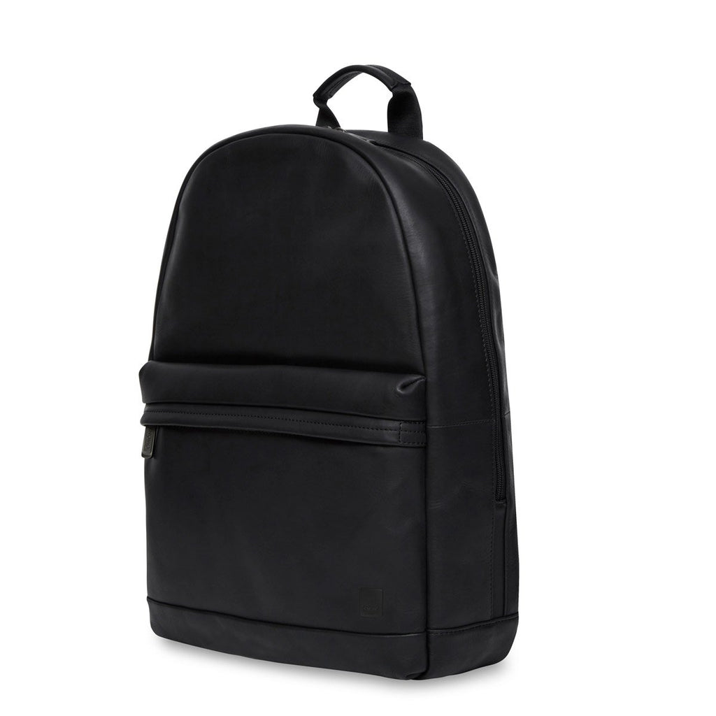 "Albion Mens Leather 15"" Laptop Backpack - Black 