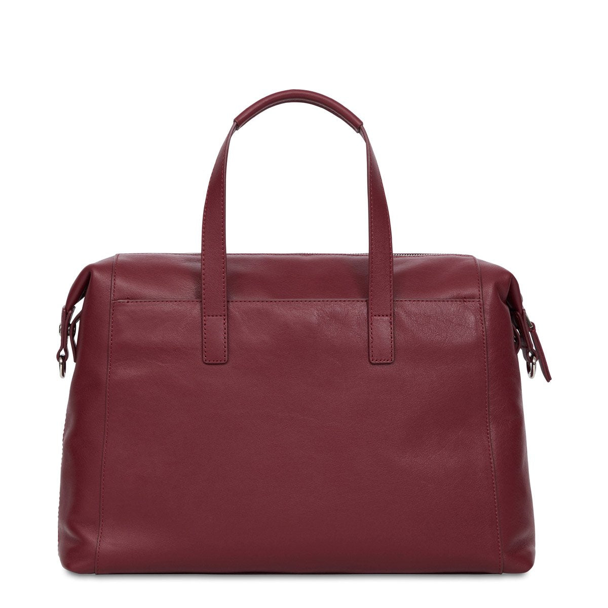 "Audley Leather Laptop Handbag - 14"" -  Burgundy 
