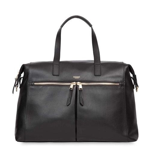 "KNOMO Audley Leather Laptop Handbag - 14"" From Front 