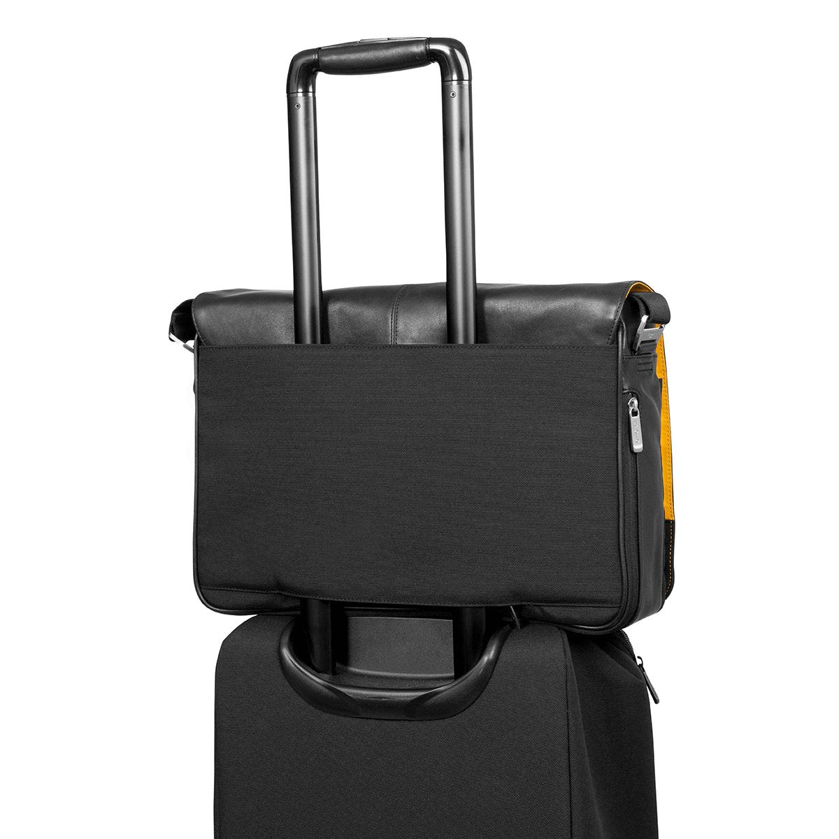 "KNOMO Bungo Laptop Messenger Bag Trolley Sleeve View 15.6"" -  Black 
