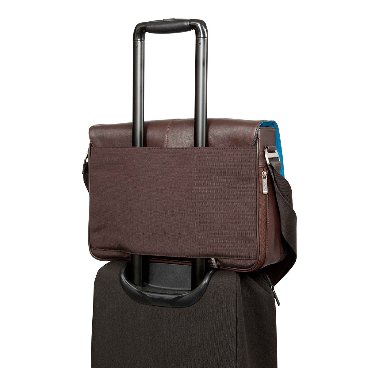 "KNOMO Bungo Laptop Messenger Bag Trolley Sleeve View 15.6"" -  Brown 