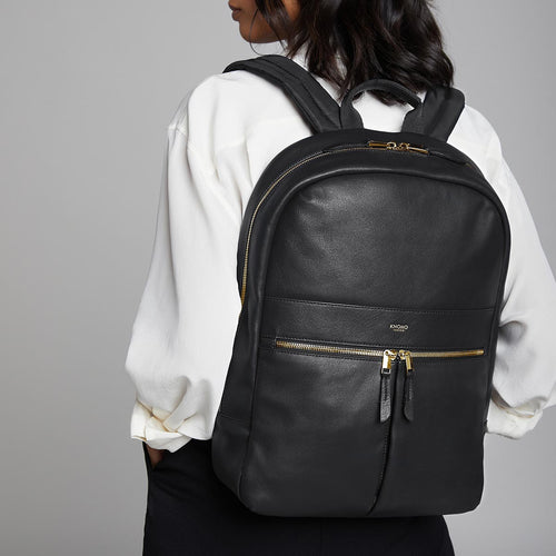 "KNOMO Beaux Leather Laptop Backpack - 14"" Main Image 
