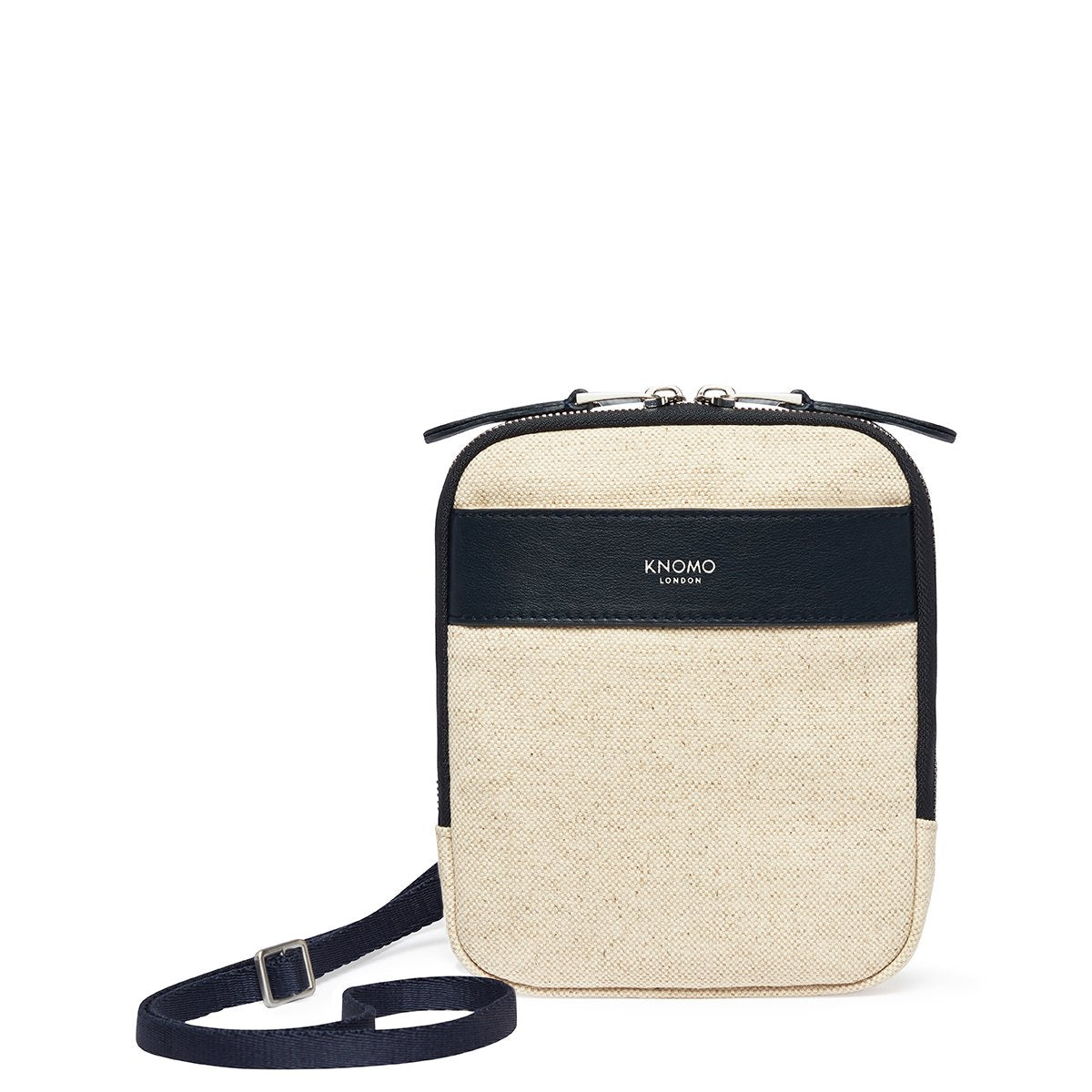 "KNOMO Rex Mini Cross-Body From Front 6"" -  Natural 