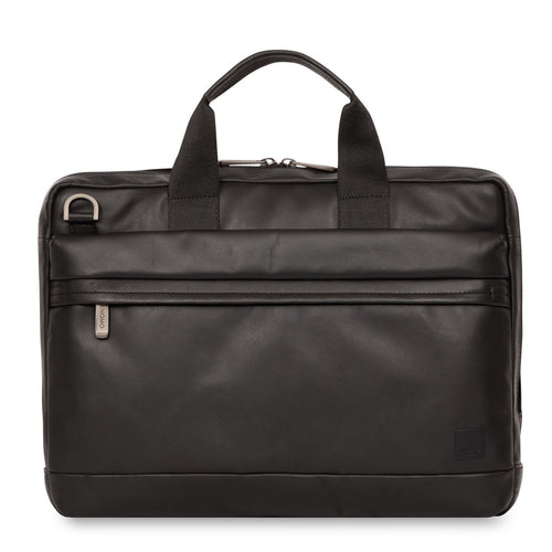 "KNOMO Foster Leather Laptop Briefcase - 14"" From Front 