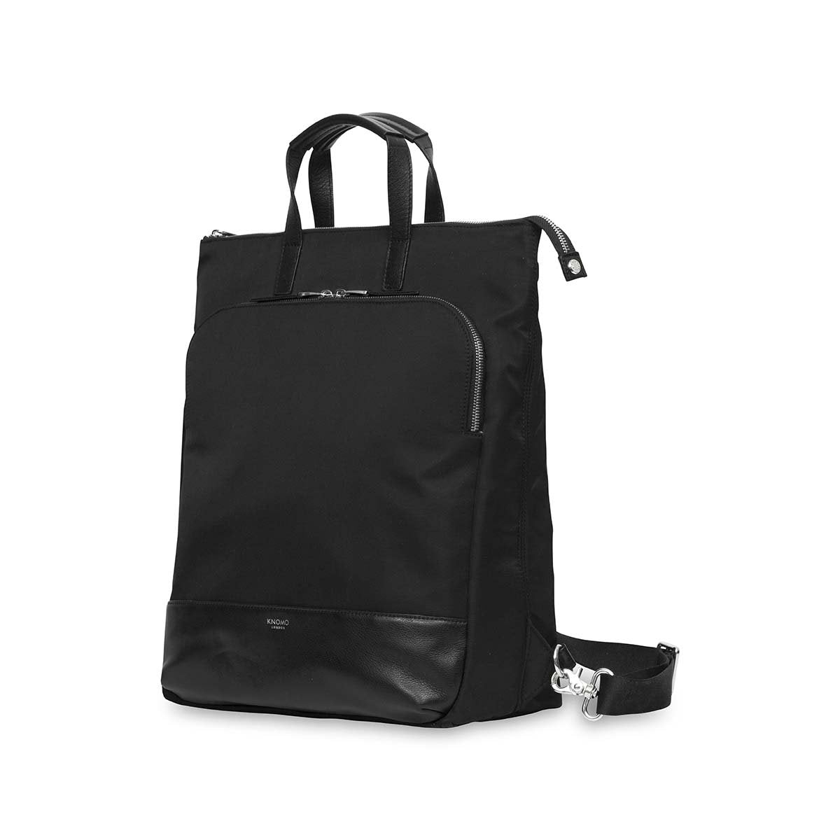 "KNOMO Harewood Laptop Tote Backpack Three Quarter View 15"" -  Black 