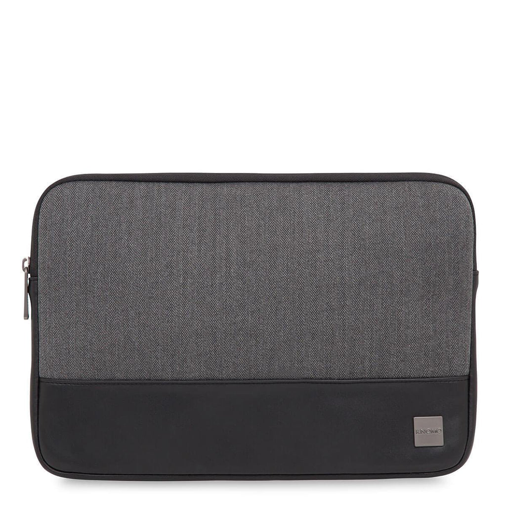 "Herringbone 13"" Laptop Sleeve for MacBook and Ultrabook - Grey – KNOMO"