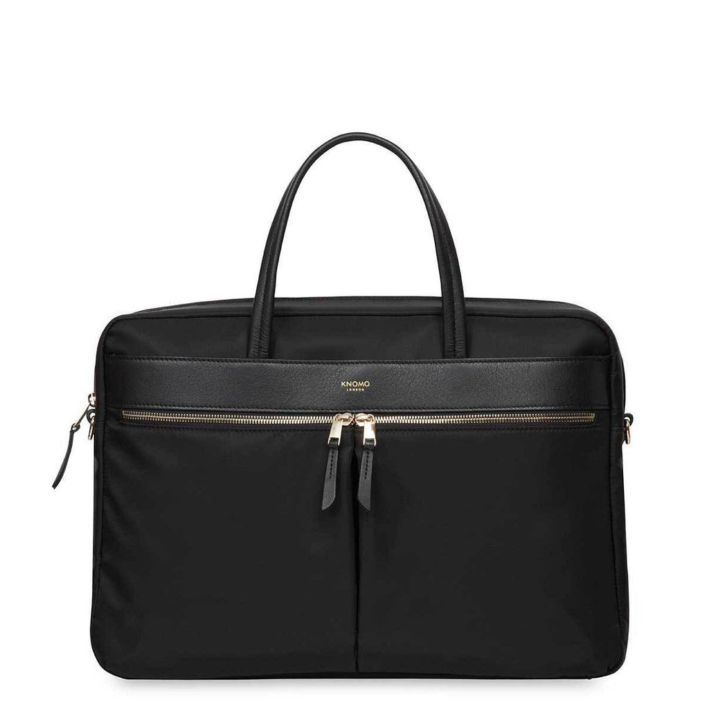 "Hanover Womens 15"" Slim Soft Laptop Briefcase - Black – KNOMO"