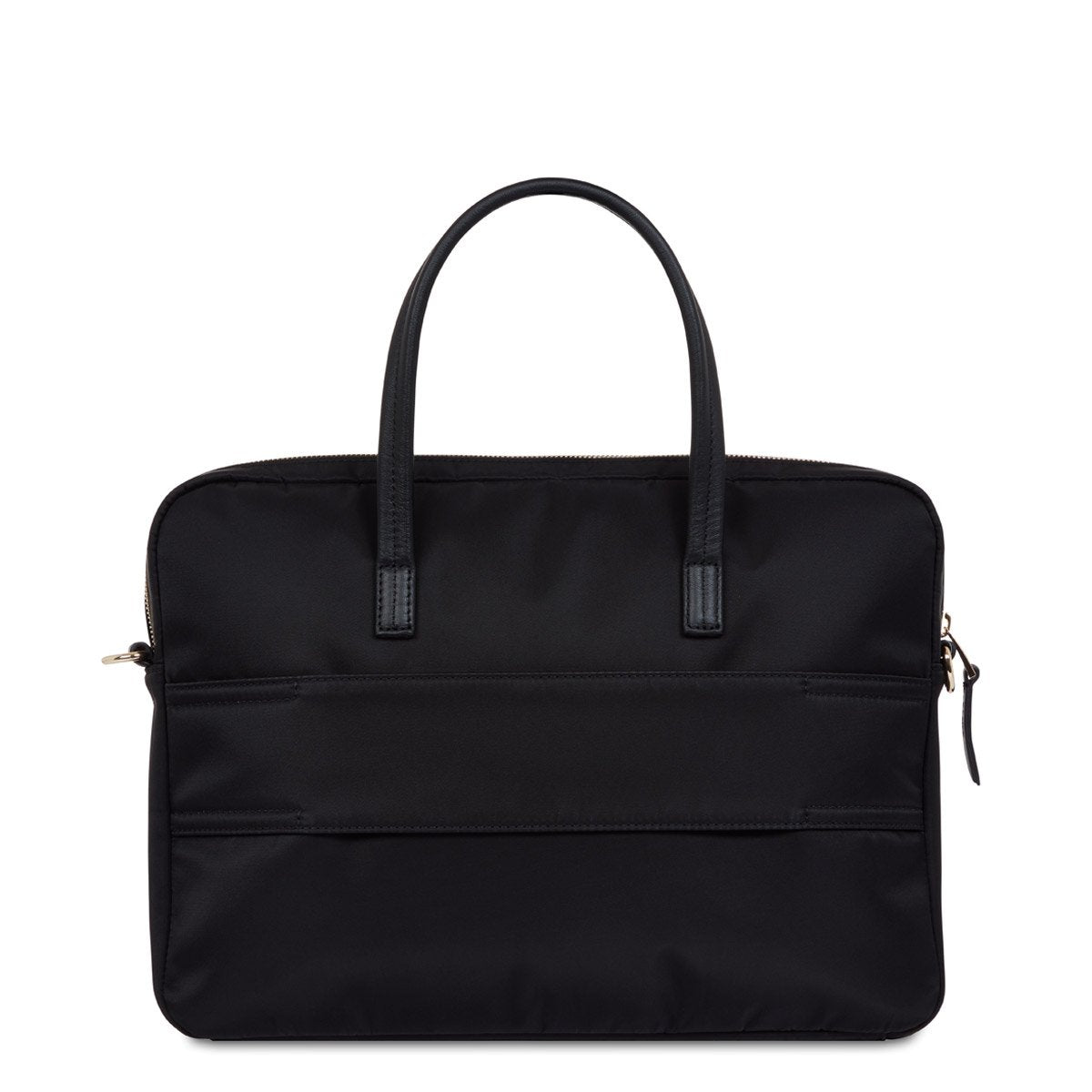 "KNOMO Hanover Laptop Briefcase From Back 14"" -  Black 