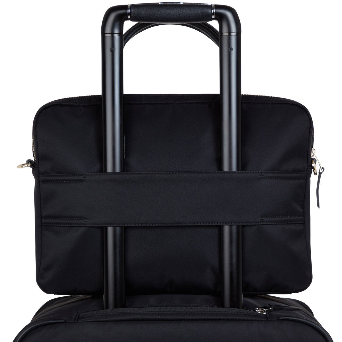 "KNOMO Hanover Laptop Briefcase Trolley Sleeve View 14"" -  Black 