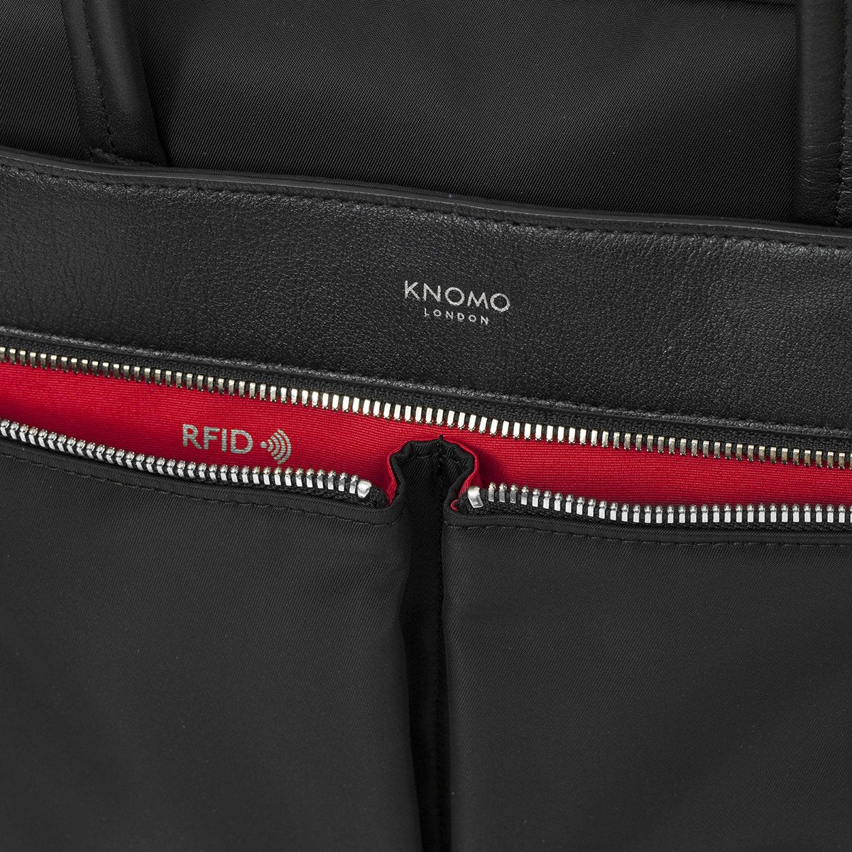 "KNOMO Hanover Laptop Briefcase Close Up RFID 14"" -  Black 