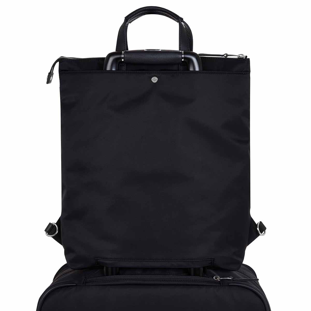 "KNOMO Harewood Laptop Tote Backpack Trolley Sleeve View 15"" -  Black 