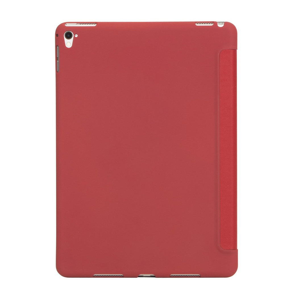 "Leather 9.7"" iPad Pro 2016 Folio Case Tri-Fold - Scarlet Red – KNOMO"